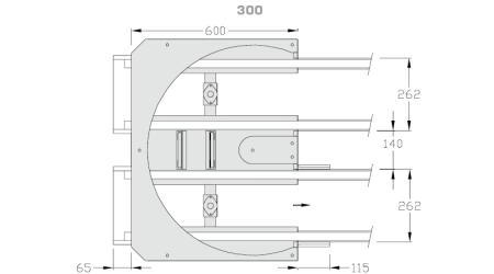 Kurve-180°-300