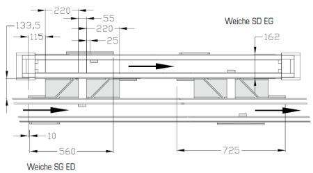 Weichen-45°-200