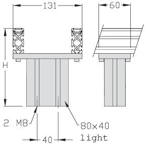 Bandstütze für Tischausführung TLM 1500
