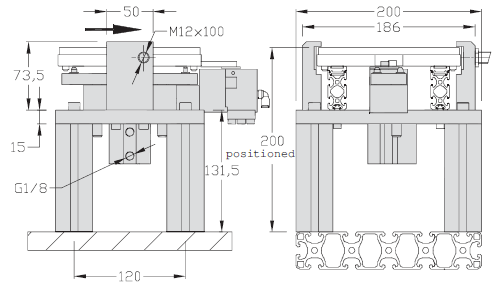 Indexierung Tischausführung TLM 1500