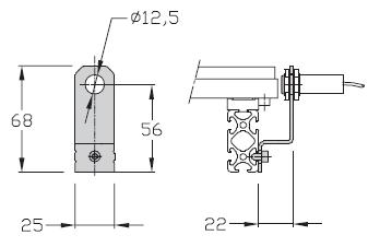 Sensorhalterung TLM 1500