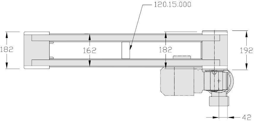 Bandstrecke mit Direktantrieb TLM2000