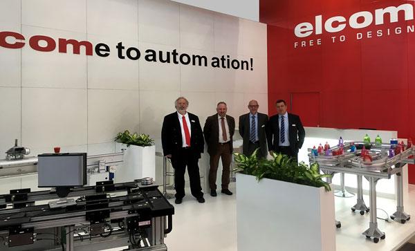 Das elcom-Team auf der Motek 2018